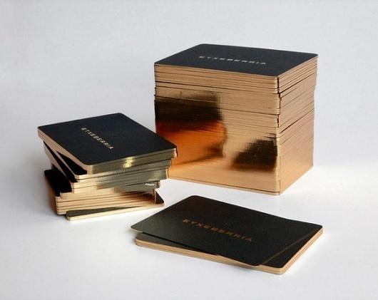 Diseño de tarjetas para la marca ETXEBERRIA on the Behance Network #gold #cards #identity #business