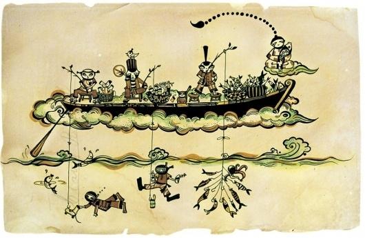 Illustration – Kong Wee Pang #fishing #boat