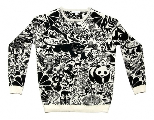 Animal Sweater #sweater #karl #grandin #fashion #logo