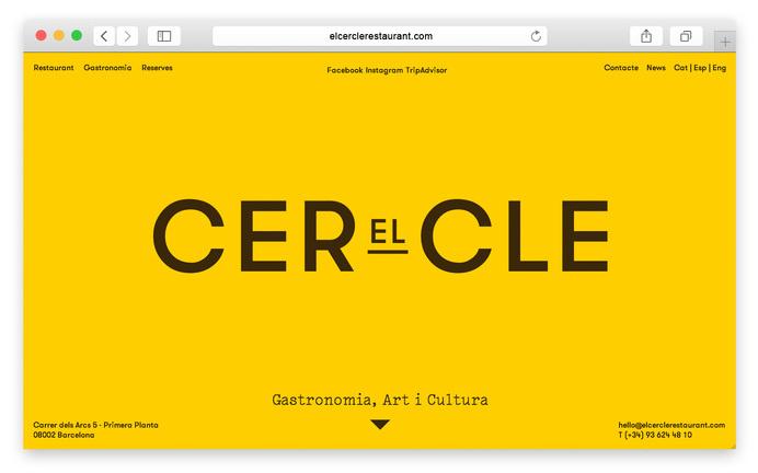 Website for El Cercle #logo