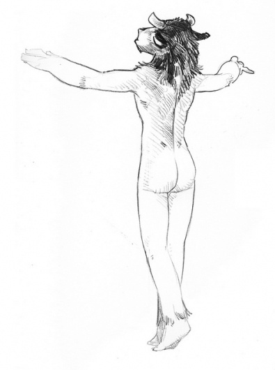 All sizes | #youth #chirs #naked #nude #eselkunst #flickr #minotaur #pencil #goodwin #sketch
