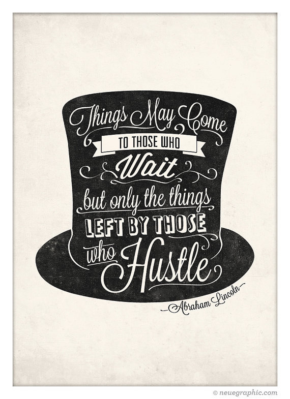 Abraham Lincoln Quote Poster Vintage Handwriting by NeueGraphic