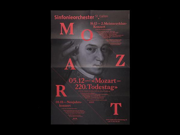 Bureau Collective xe2x80x93 Sinfonieorchester St.Gallen #black #red #mozart #poster