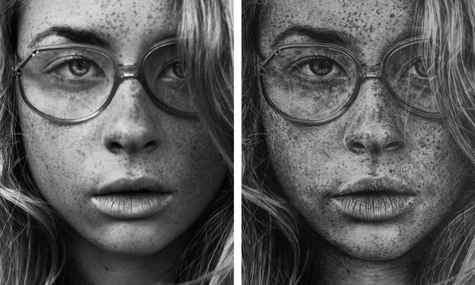 Stunning Photo Realistic Graphite Drawings by Monica Lee portraits photorealism hyperrealism graphite #white #graphite #black #hyperrealism #illustration #portrait #art #and #drawing #sketch