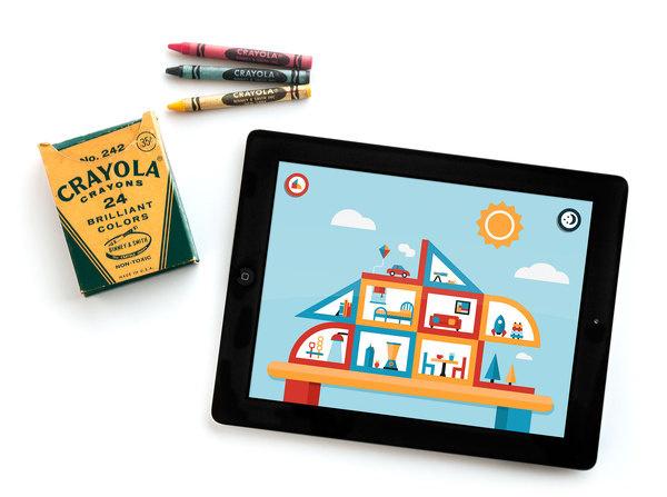 PlayHaus iPad App Interactive Illustration Kids Children Fun Color #flat #vector #print #design #color #screen #illustration