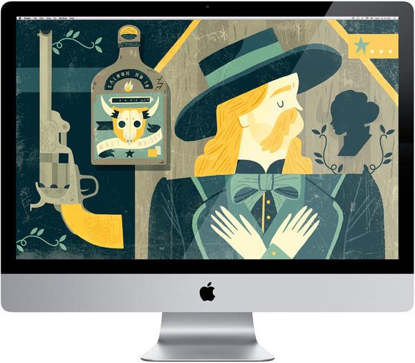 Kuvva Owen Davey Illustration #western #screen #illustration #imac #wallpaper