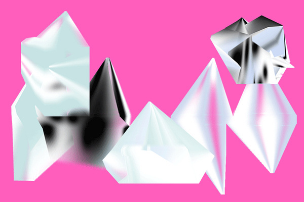 HORT | Foragepress.com #pink #diamond #shapes