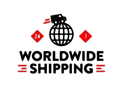 Dribbble - Worldwide Shipping. by Tim Boelaars #type #illustration #branding #logo