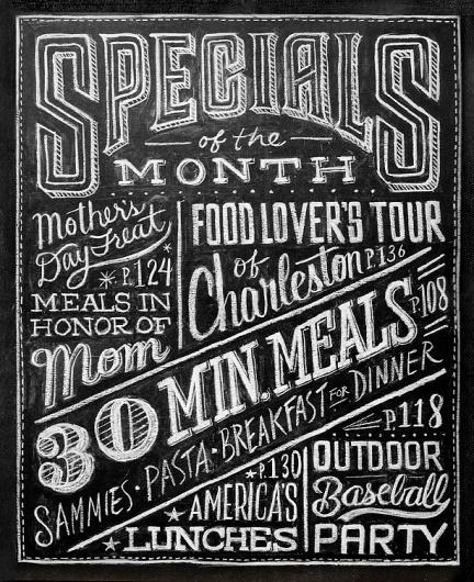 Dana Tanamachi | Custom Chalk Lettering - Home #blackboard #chalk #food #special #hand