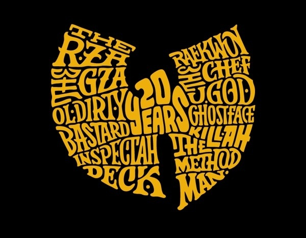Wu-Tang Clan 20th Anniversary on Behance by 86era #typography