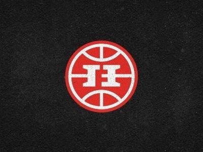 Dribbble - Hoops Family Monogram - logomark by Gert van Duinen #logo #branding #red #monogram