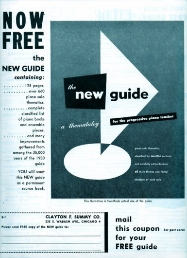 Design and Typography #piano #advertisement #editorial #1950