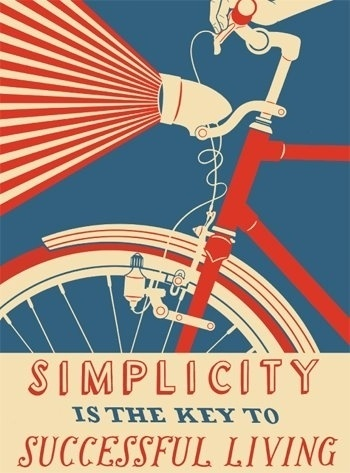 Simplicity is the Key to Successful Living — Chris Abraham #vintage #poster