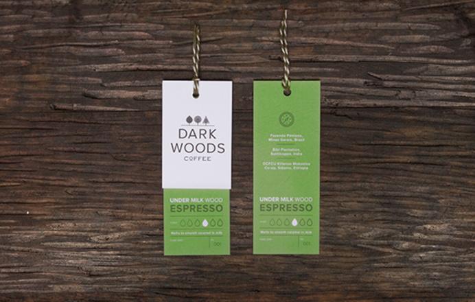 Dark Woods Coffee Labels www.lucasjubb.co.uk