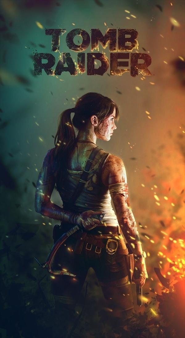 Tomb Raider by Zach Bush #creative #design #digital #art