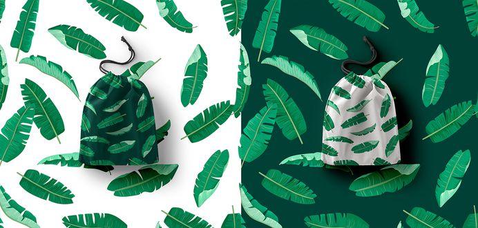 Tropical Banana leaf Patterns set on Behance