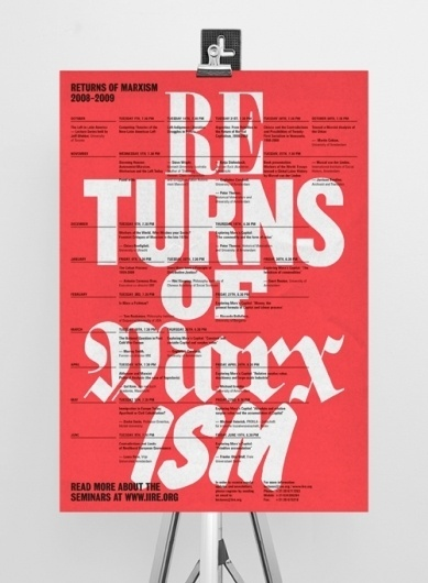 Work on Display #grid #red #poster #typography