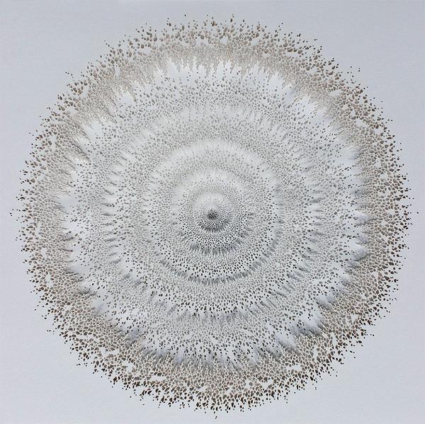 Intricate Organic Forms Cut from Paper by Rogan Brown #cut #sculpture #paper #art