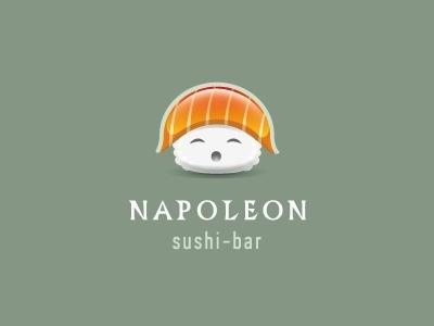 Dribbble - Napoleon by alex badovsky #sushi #logo #napoleon
