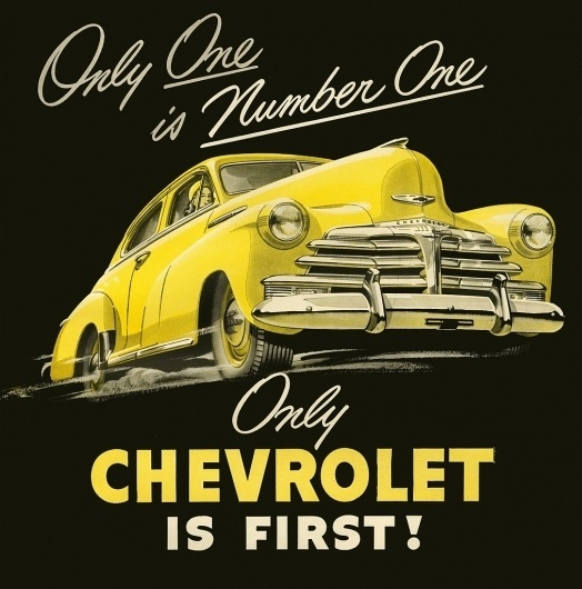 All sizes | Number One! | Flickr - Photo Sharing! #script #chevrolet #advertising #illustration #car
