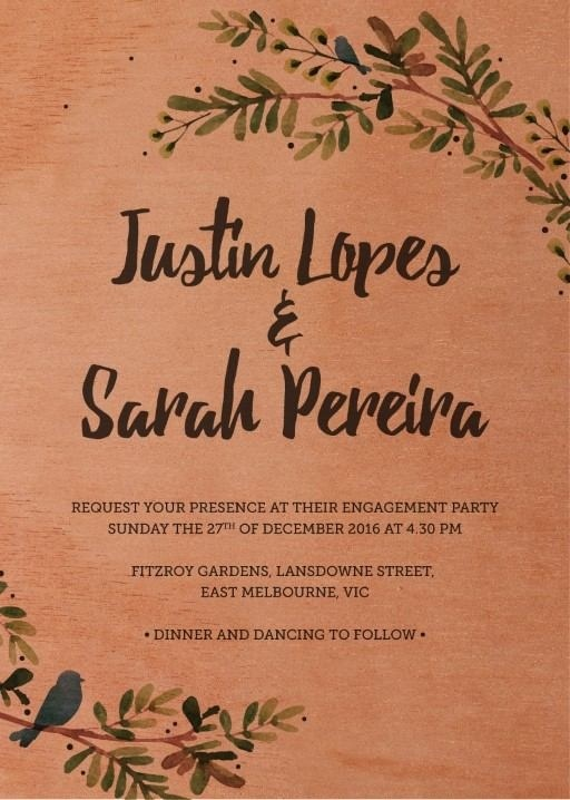 Rustic Garden - Engagement Invitations #paperlust #engagementinvitation #engagementcard #engagementinspiration #design #paper #printonwood