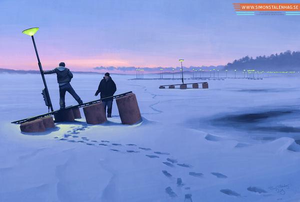 Simon Stålenhag Art Gallery #sweden #retro #futuristic #sci #fi #simon #digital #illustration #art #stalenhag