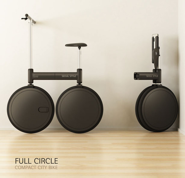 Full Circle Compact City Bike #tech #amazing #modern #innovation #design #futuristic #gadget #ideas #craft #illustration #industrial #concept #art #cool