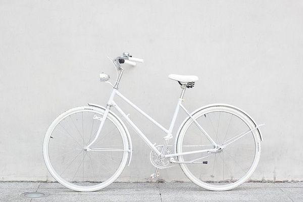 bike #bicycle #mixte #white #bike