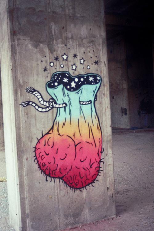 Designersgotoheaven.com Galaxy Sack by UNGA. #sack #mural #magic #testicles