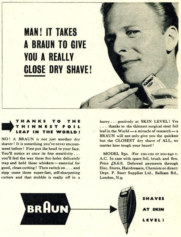 Braun #grotesque #advertising #vintage #typography