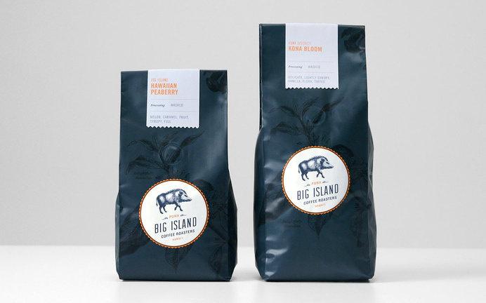 Big Island Coffee Roasters #packaging #artisanal #seal #coffee