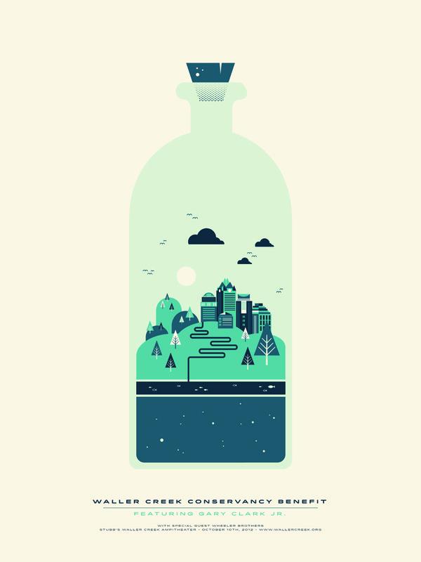 Waller Creek #waller #garner #benjamin #illustration #poster #creek