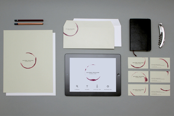 mylenepoisson_portfolio1 #stamp #stationary #design #wine #minimalism #corporate
