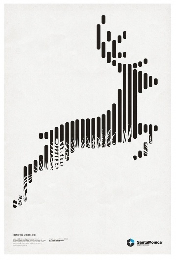 STAR GRID POSTERS + SANTAMONICA '10/11 on the Behance Network #white #design #graphic #black #poster #and