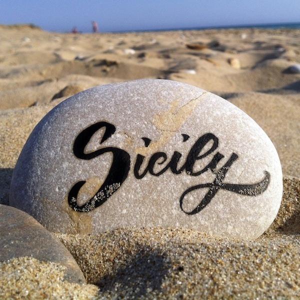 Sicily #calligraphy #type #brush