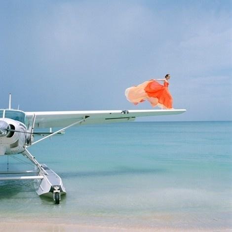 Sara Lindholm #fashion #photography #airplane #drama