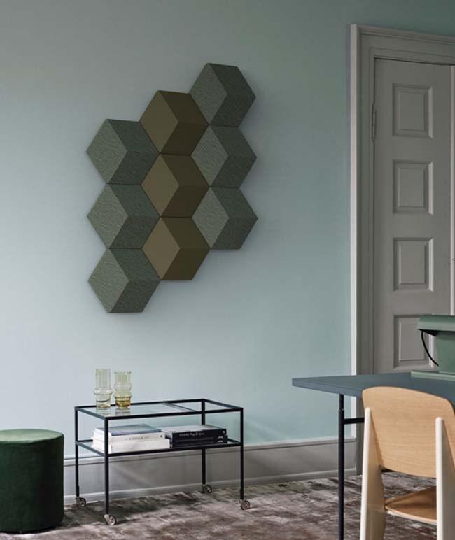 Bang & Olufsen's modular speakers double as wall art #BangOlufsen #LikeNoOneElse #FutureOfSound #BeoSoundShape #InteriorDesign #milandesig