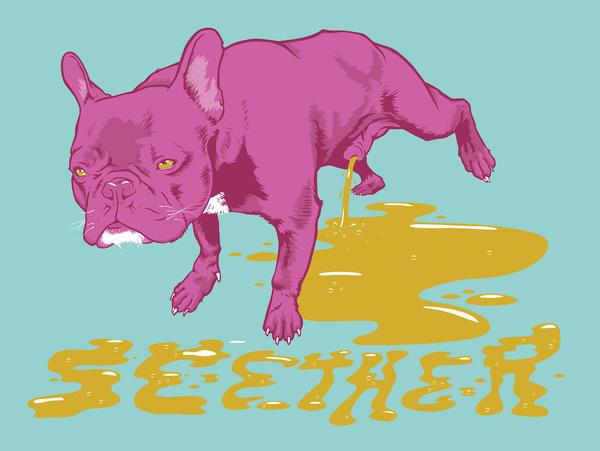 ILLUSTRATION RONLEWHORN INDUSTRIES #urine #boston #canine #pee #illustration #poster #dog