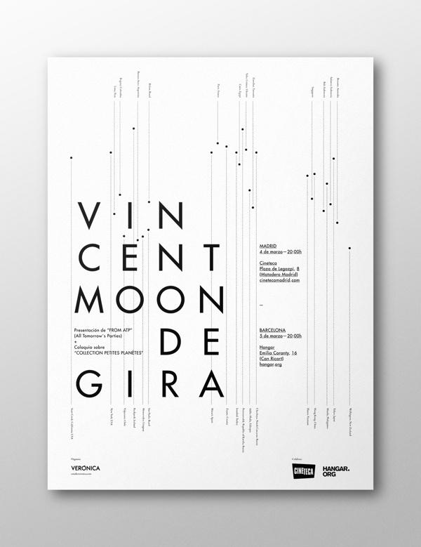 Vincent Moon de Gira on Behance #naranjo—etxeberria #diego #spain #blanco #negro #white #y #de #black #etxeberria #naranjo #poster #vincent #miguel #naranjoetxeberria #gira #moon