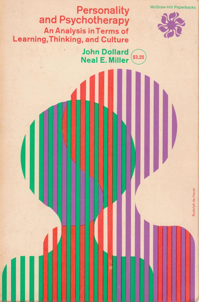 book cover, 1960s, colour, Rudolph de Harak
