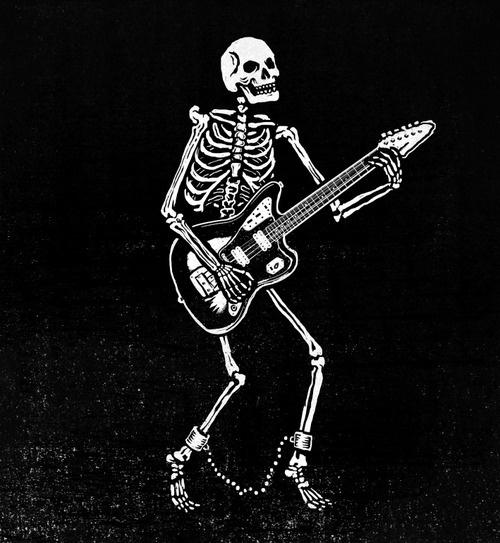 pedro oyarbide #illustration #bones #tattoo #skull