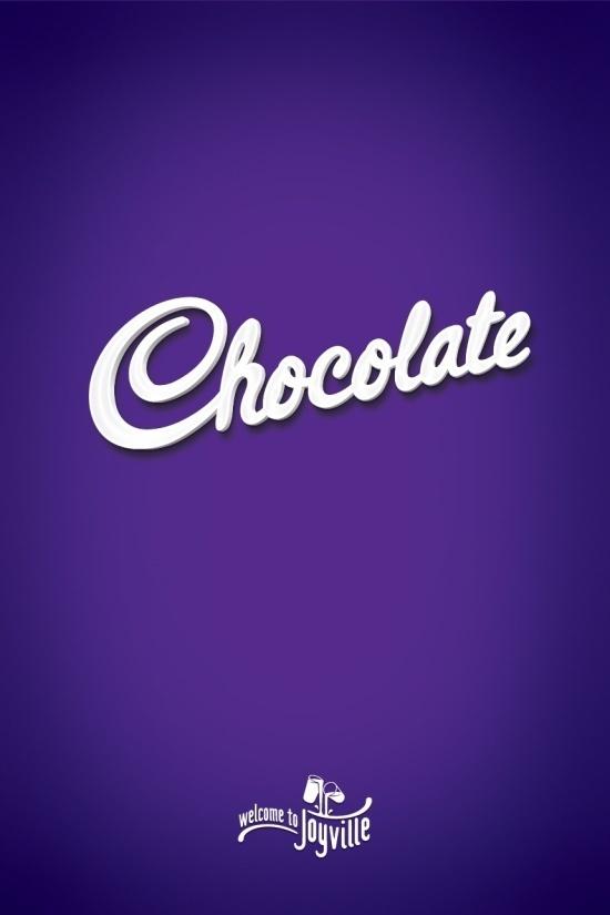 Chocolate #chocolate #cadbury #typography