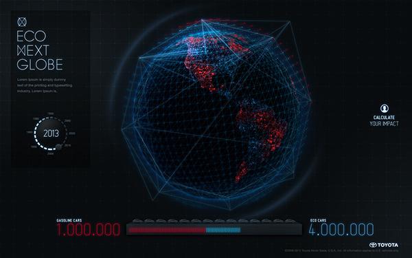 Eco Next Globe on Behance #globe #web