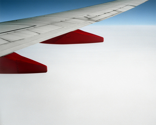 by sheenographs. #wing #red #airplane