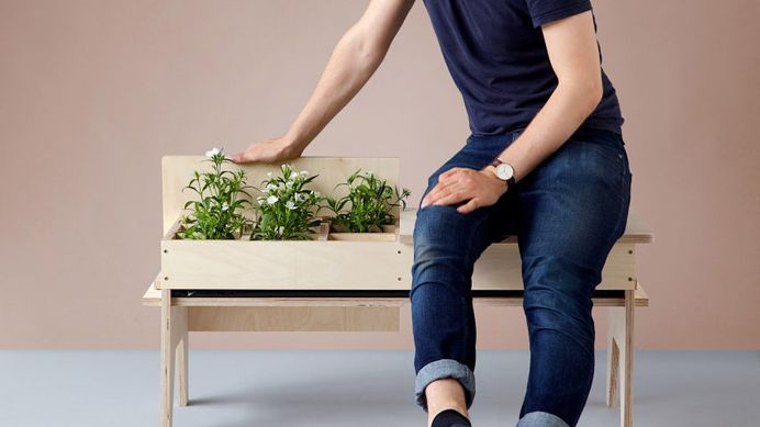 "Florian Wegenast's furniture creates ""temporary gardens"" in small spaces"