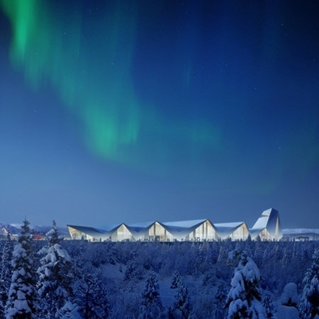 Dezeen » Blog Archive » Arctic Circle Airport by Narud Stokke Wiig and Haptic #architecture