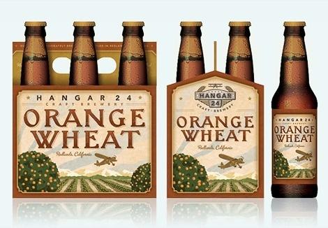 Hangar 24 Orange Wheat Six Pack #packaging #beer #label #bottle