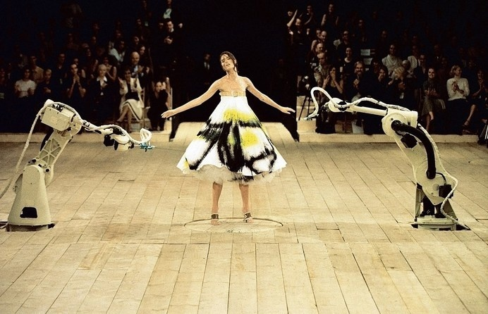 Spray painted dress, Alexander McQueen, No. 13, S/S99