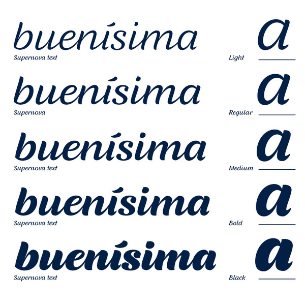 Typotheque: Supernova, a family of scripts #typography