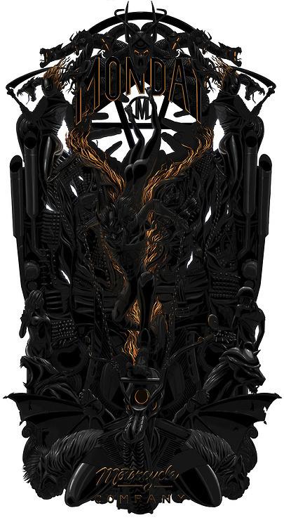 Designersgotoheaven.com - Monday Moco by Chris Clancy. #chris #clancy #illustration #monday #moco #rad #motorcycle